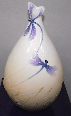 A Stunning Boxed Franz Dragonfly Vase Xp1904