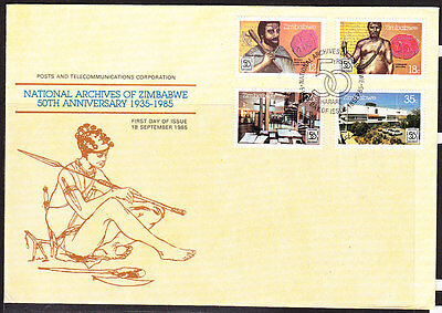 Zimbabwe  1985 National Archives First Day Cover - Unaddressed