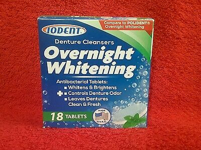 Denture Cleansers OVERNIGHT WHITENING 18 TABLETS