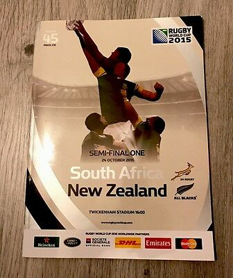 Rugby World Cup 2015 South Africa New Zealand programme