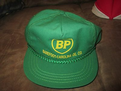 Vintage BP Gas Barefoot-Carolina Oil CO.  Snap Back Truckers Hat China Grove NC.