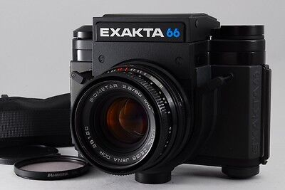 [N MINT] EXAKTA 66 w/Carl Zeiss JENA DDR 36120 BIOMETAR 80mm 2.8 MC From Japan