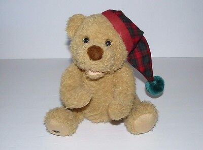 """Christmas Teddy Bear Avon 2006 Bedtime Tales Talking Singing Baby Only 9"""""""