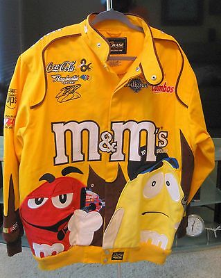 M&M Nascar Men's Large Racing Twill Jacket Elliott Sadler ~ Robert Yates Racing