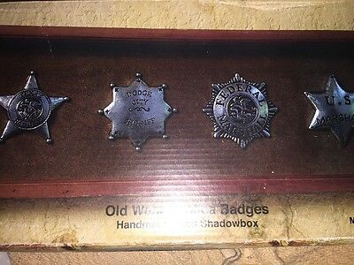 Lot of 4 Western Replica Sheriff Badges By Western Moments