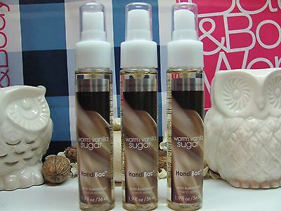 Bath and Body Works ( 3 ) ~ Warm Vanilla Sugar ~ HandiBac Hand Spray