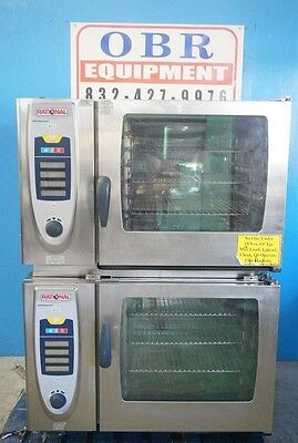 Rational Double Stacked Full Size Electric Convection Combi-Ovens Self Cooking M