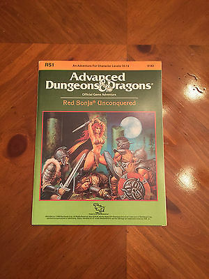 AD&D - RS1 Red Sonja Unconquered - Dungeons And Dragons - TSR - 9183