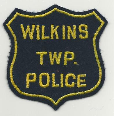 Wilkins Twp PENNSYLVANIA PA Police patch Old felt