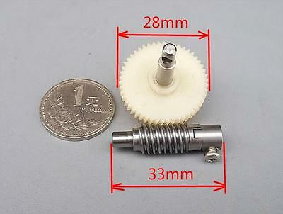 2pcs Import Worm Reduction gear train Metal and plastic Gearset for DIY