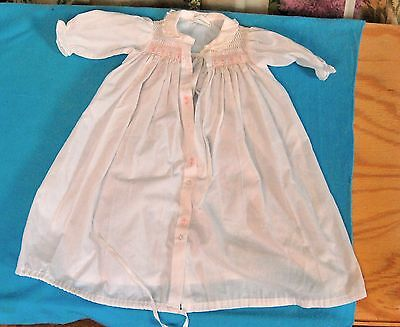 Rosey Kids Baby Smocked Daygown/Layette Gown Dress Size 3-6 months or Doll