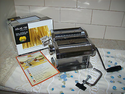 Marcato Atlas 150 Wellness Pasta Maker Machine - Made In Italy - Stainless Steel