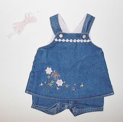 3-6 months Faded Glory one pc romper/dress with headband