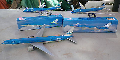 KLM Royal Dutch Airlines 3 different models AIRBUS A330,BOEING 747-400, FLYING D