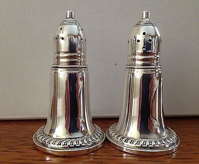 Vintage Empire Sterling Silver Weighted Salt & Pepper Shakers - good
