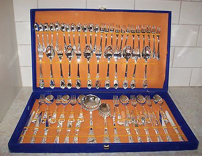 Stunning Vintage Italian Silver Plated Cutlery Set (For 12) Deceased Estate