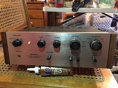 Vintage Pioneer Model SA-500A Amplifier & TA-500A Tuner,  With Speaker Plugs