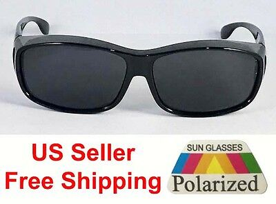 1 or 2 Pairs Polarized Fit Over Sunglasses Cover Wrap Golf Driving Anti Glare