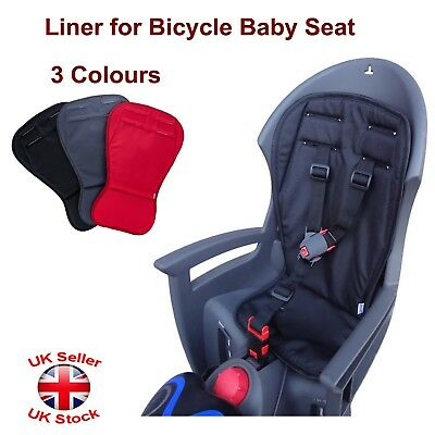 Liner For Children Baby Kids Bike Bicycle Cycle Rear Seat Carrier 3 Colours