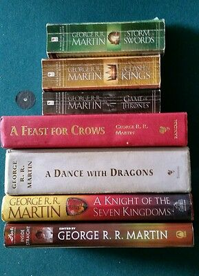 Game of Thrones 7 Book Lot Paperback and Hardcover George Martin