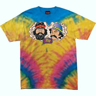 FLIP Skateboards T-Shirt *Cheech & Chong*, batik, Gr. S