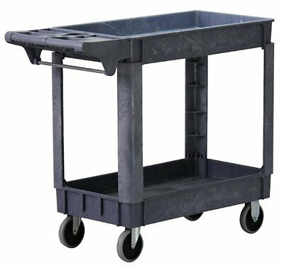 500-Pound Capacity Service Cart Tool Utility Shelves Heavy Duty Rolling NEW