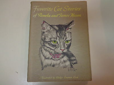 Favorite Cat Stories of Pamela and James Mason 1956 HBDJ Gladys Emerson Cook