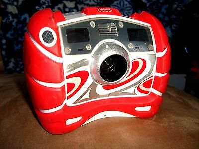 Rare RED FISHER PRICE KID TOUGH PINK DIGITAL CAMERA