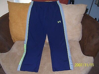 Boy's Blue Under Armour Loose Athletic Pants Size Youth XL