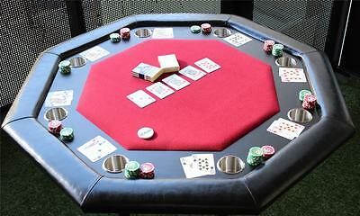 Professional Poker Table seats 8 players - Play Multi Card Game, BLACKJACK, ETC