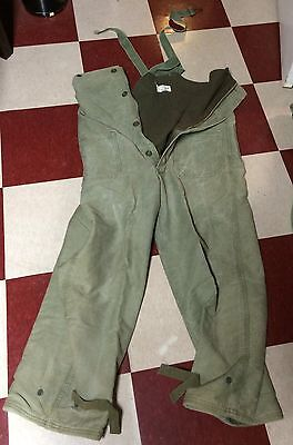 US Navy WWII  WW2 USN Stencilled Foul Weather Deck Overalls