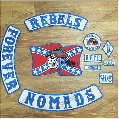 Vintage Rebels Nomads MC Motorcycle Club Patches