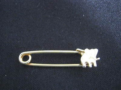 Vintage Elephant Pin, Safety Pin Type, Republican