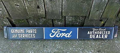 Ford Authorized Dealer Push Pull Door Bar Advertising Sign Parts Service Station