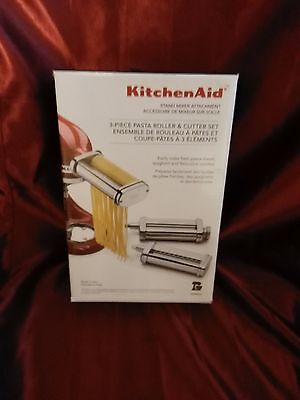 Kitchenaid KSMPRA Stand Mixer Attachment 3-Piece Pasta Roller & Cutter Set! NEW!