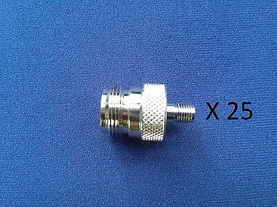 Lot of  25 RF Adapter N Female to SMA Female Connector, RSA-3477 !!! SALE !!!