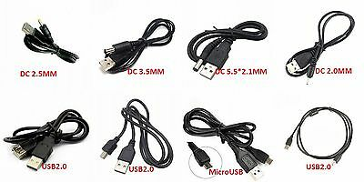 USB Cable MicroUSB Datawire USB2.0 Printer Line MK5P USB to DC3.5mm/2,1mm
