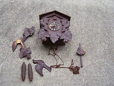 Vintage Black Forest Coo Coo Clock for parts or repair Germany