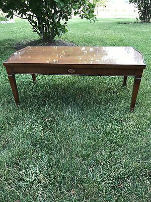 Vintage French Provincial Style Wood Carved Cocktail Table by Lane