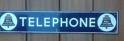 Bell Systems Vintage  porcelain Bell System telephone sign 1940's