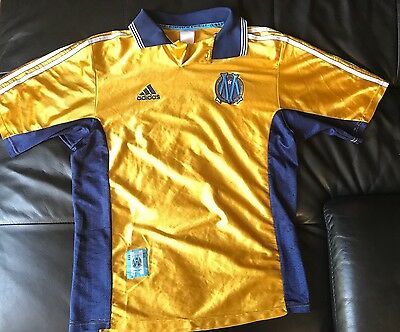 maillot foot OM MARSEILLE 1998-99 centenaire COLLECTOR maglia shirt M