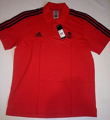 Official Olympics Team GB Cotton Polo Shirt Training ATHLETE ISSUE BNWT Large