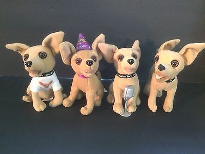"VINTAGE Talking ""New Year 2000"" Taco Bell Chihuahua Dog Plush plus 3 others"