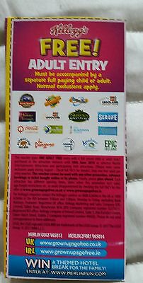 2 for 1 Voucher,Ticket  Legoland  Alton Towers Thorpe Park Chessington Sealife