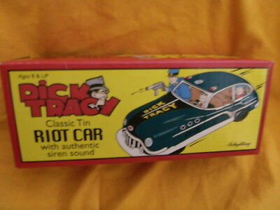 Schylling, classic tin Dick Tracy Riot Car, friction with siren sound, 2002