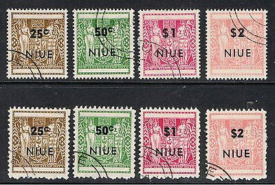 Niue 1967 New Zealand Arms Overprinted - Both Perfs