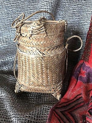 Old Borneo Dayak Basket & Lid …beautiful collection & display item