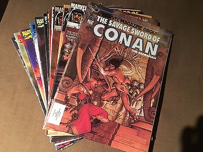 Marvel 15 Magazine CONAN Lot! SAVAGE SWORD, SAGA, THE SAVAGE! VF or better