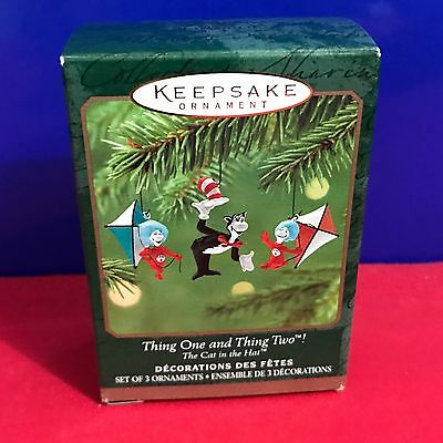 Hallmark Ornament Dr. Seuss Thing One Thing Two 2001 NEW DC2