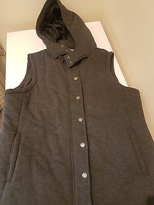 katies womens padded knit vest size14. Charcoal